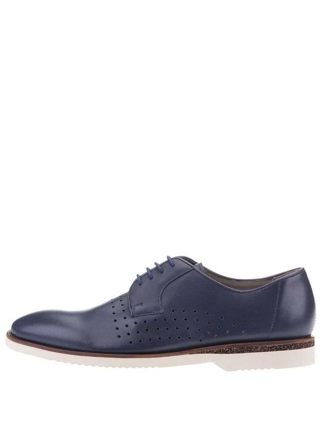 Pantofi Oxford bărbătești din piele bleumarin Clarks Tulik Edge