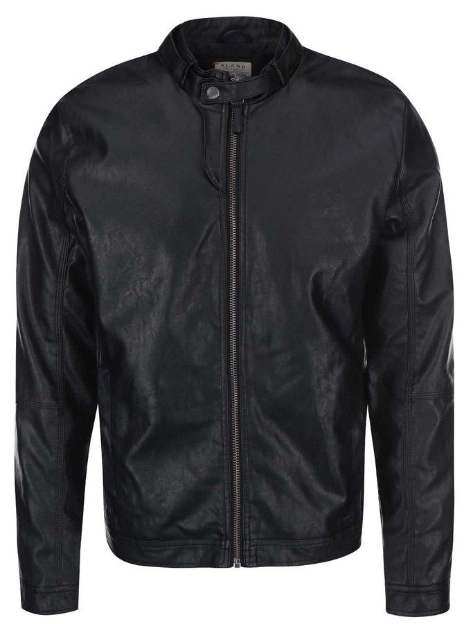 Jachetă neagră din piele artificială Blend