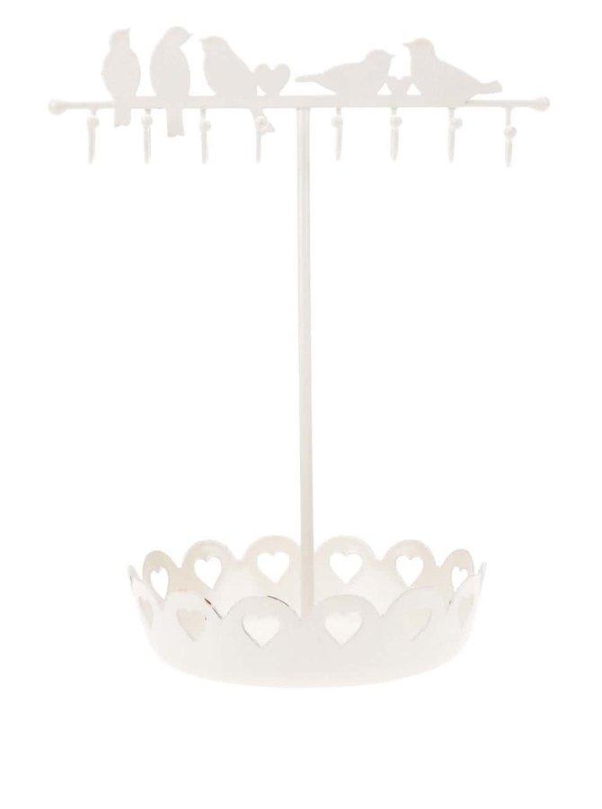 Krémový stojan na šperky Sass & Belle Birds On Wire