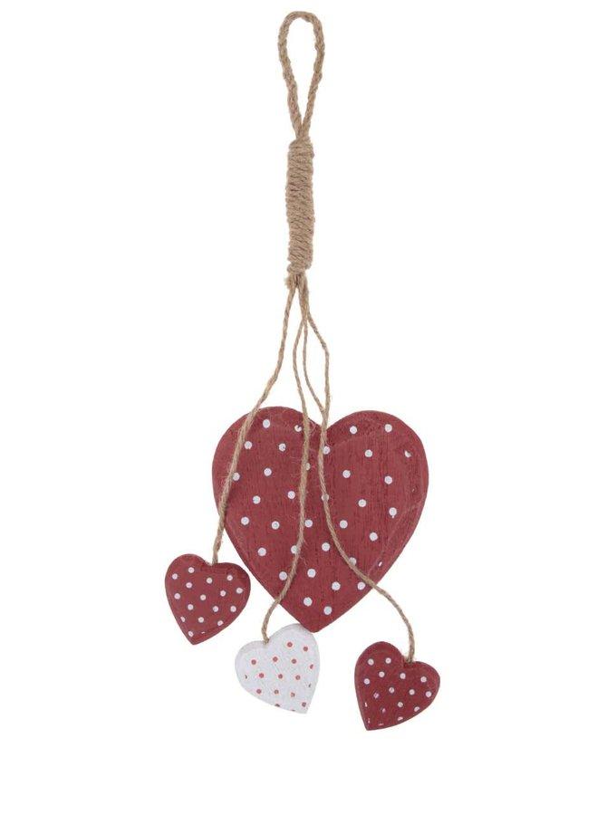 Decorațiune de agățat Bunch în formă de inimă de la Sass & Belle