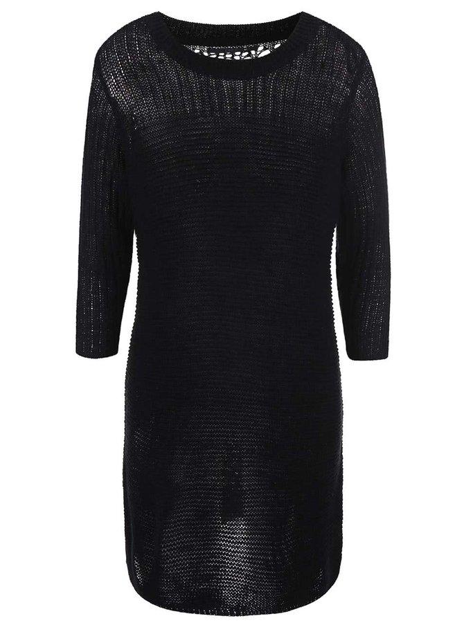Čierne svetrové šaty ONLY Malin