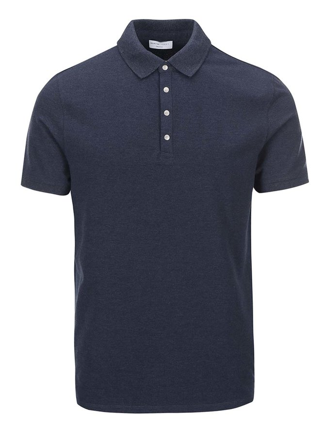 Modré polo triko Selected Homme Dawson