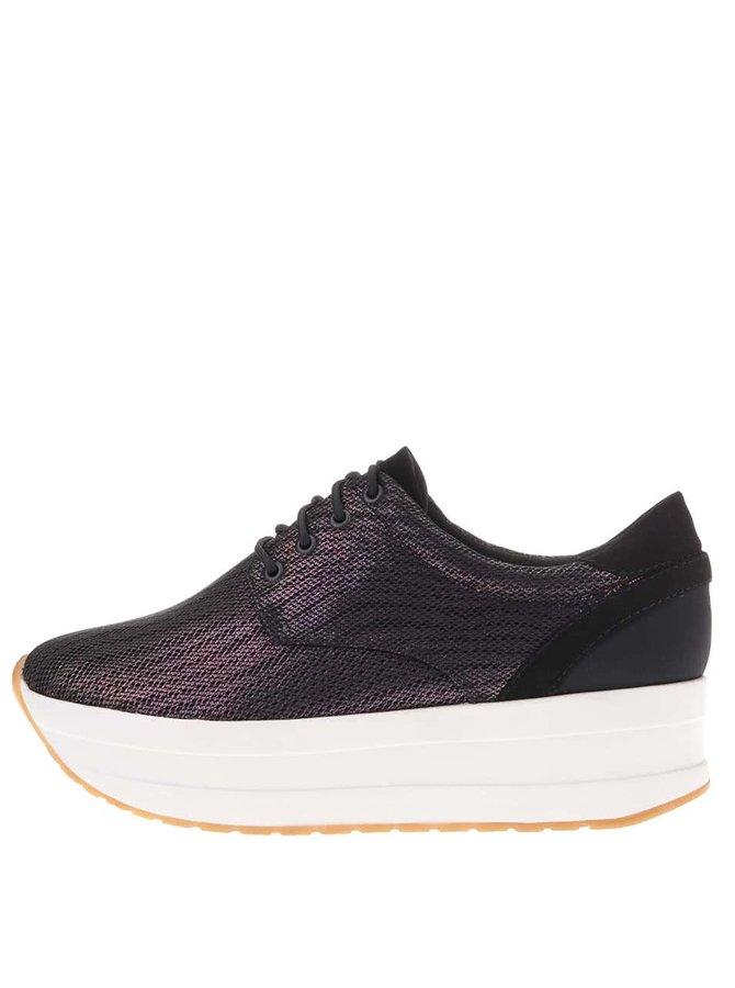 Teniși cu platformă Vagabond Casey violet cu negru