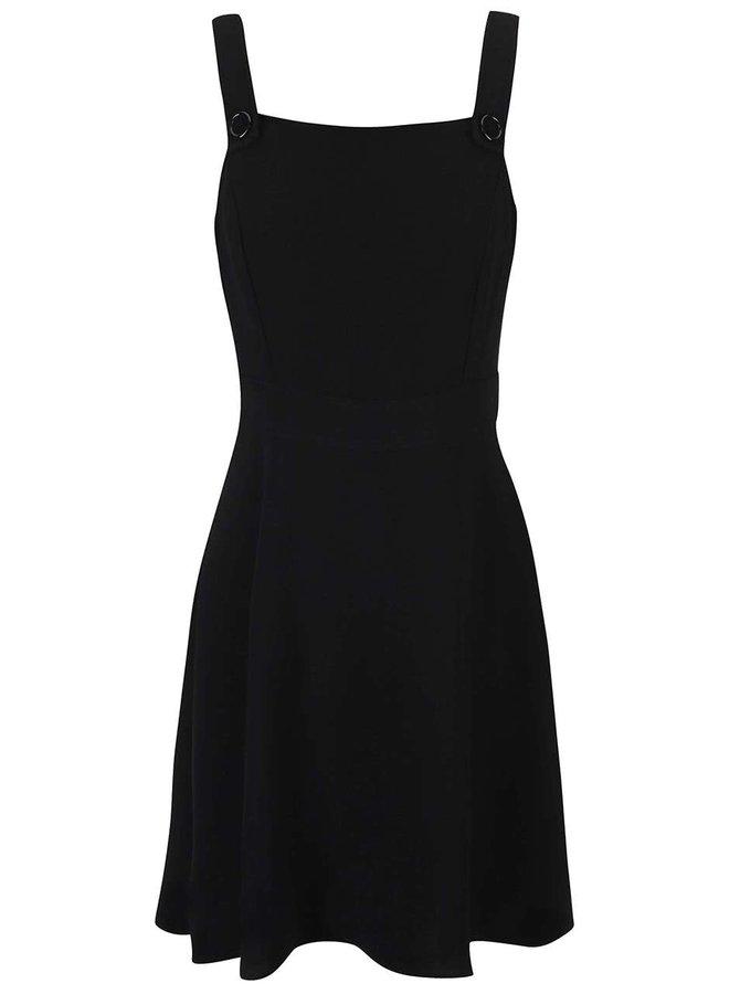 Černé šaty s áčkovou sukní Dorothy Perkins