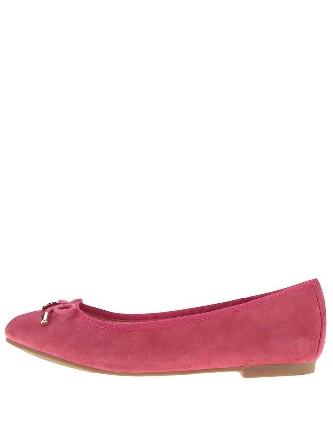 Růžové semišové baleríny Tommy Hilfiger