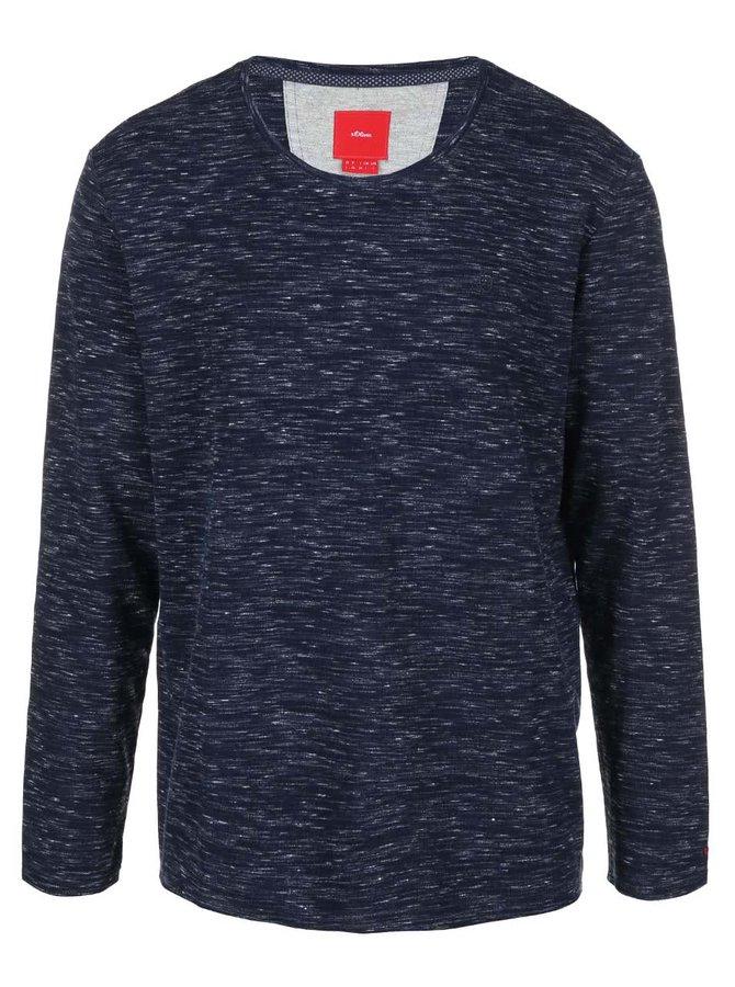 Bluză cu mânecă lungă bărbătească bleumarin s.Oliver