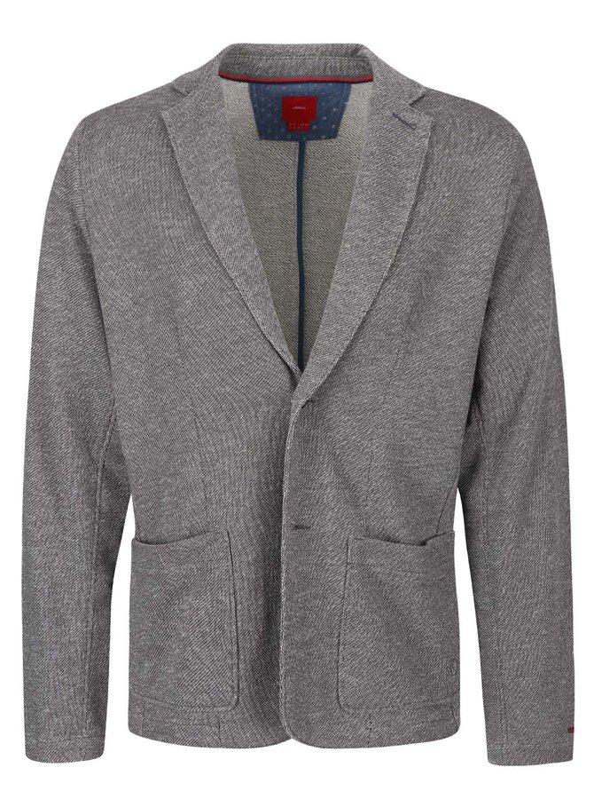 Bílo-šedé pánské mikinové sako s.Oliver