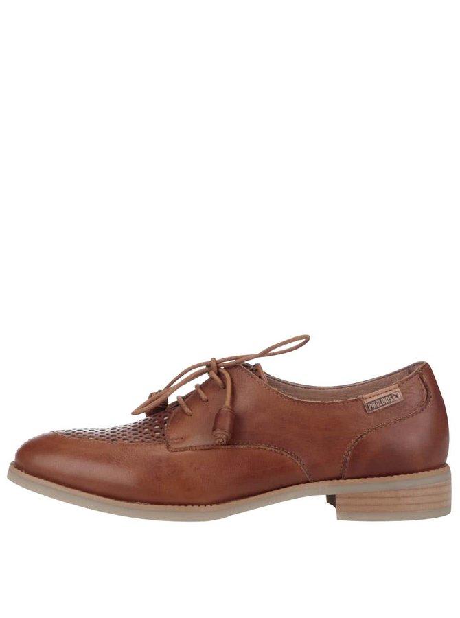 Pantofi oxford din piele maro cu detalii perforate Pikolinos Royal
