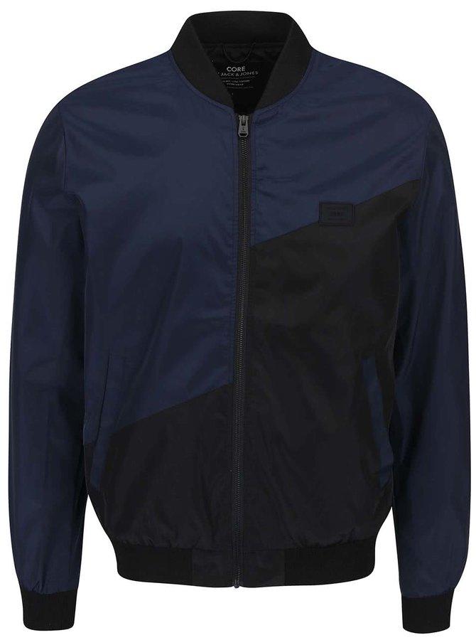 Jachetă neagră și albastră Jack & Jones Fly