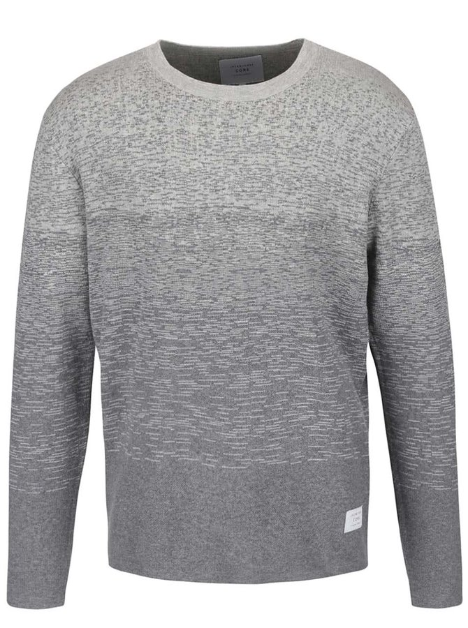 Sivý sveter s ombré efektom Jack & Jones Ernesto