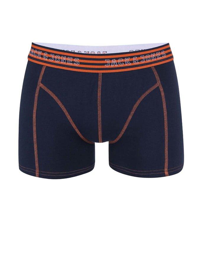 Boxeri bleumarin cu talie portocalie Jack & Jones Simple