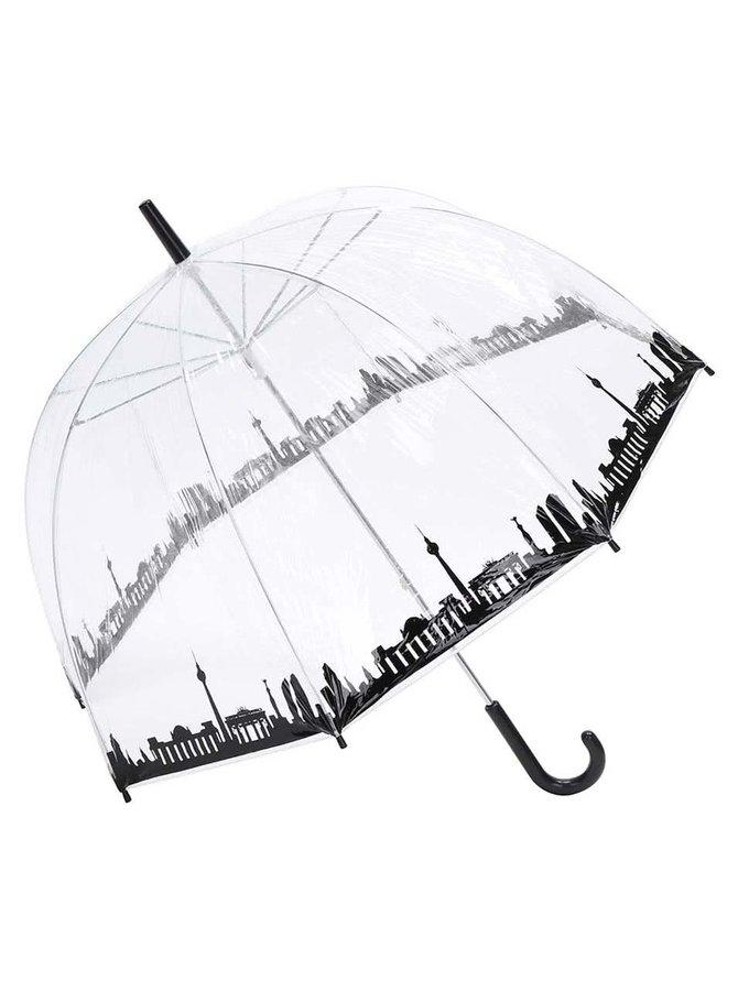 Umbrelă transparentă Lindy Lou cu panorama Berlinului