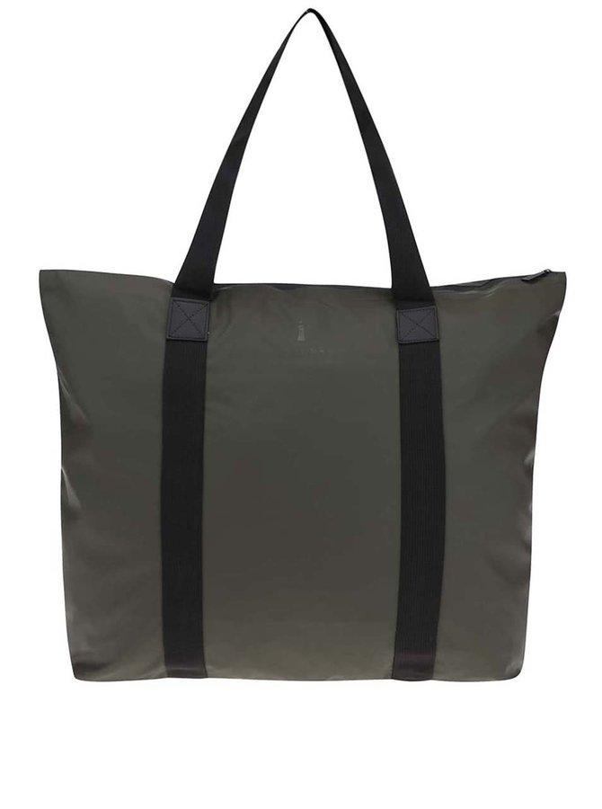 Tmavozelená cestovná taška s dlhšími uchami RAINS