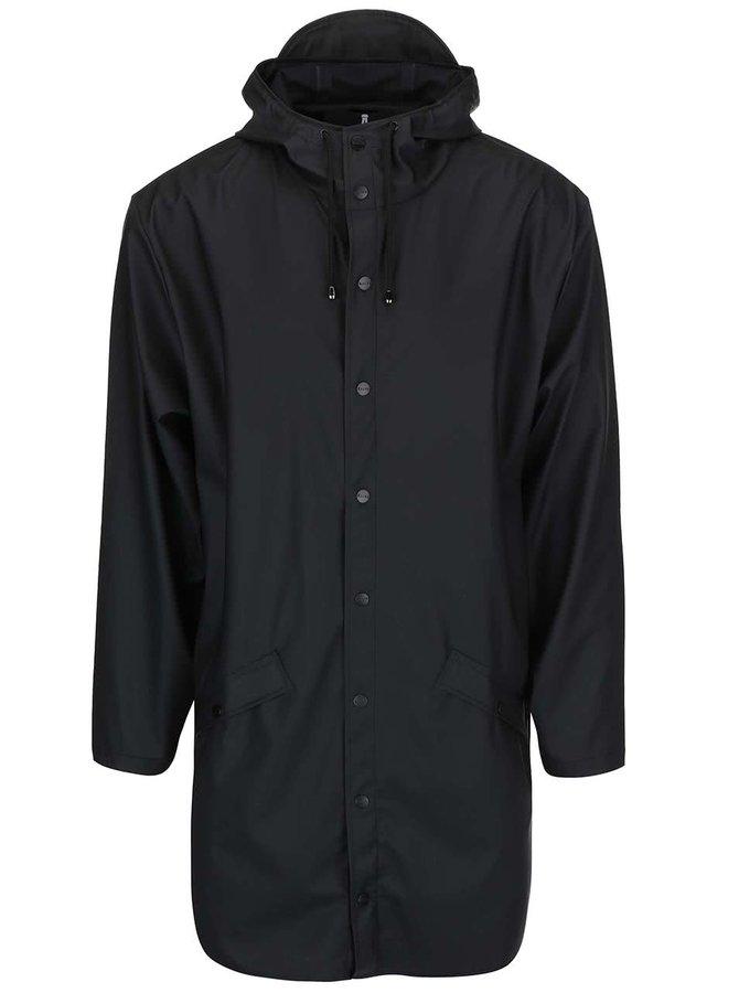 Černá pánská dlouhá pláštěnka RAINS