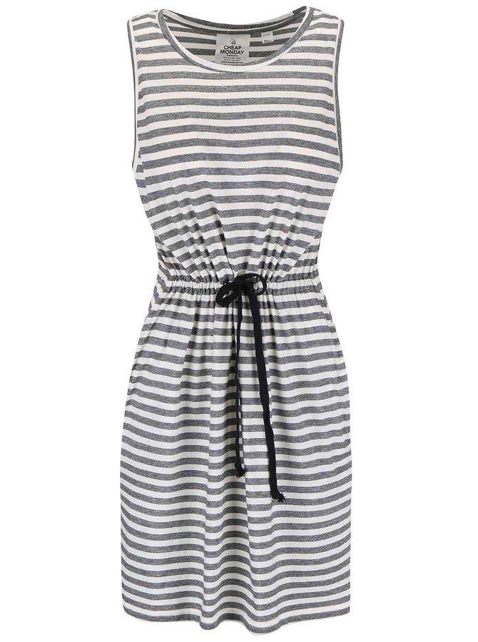 Černo-bílé pruhované šaty Cheap Monday Collapse