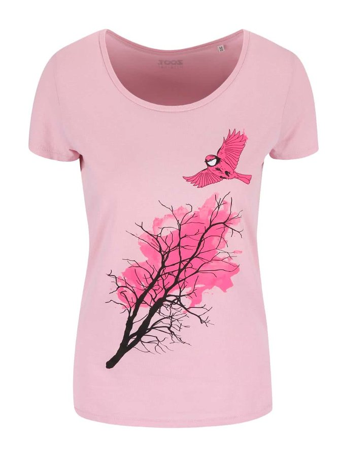 Ružové dámske tričko ZOOT Originál Sýkorka