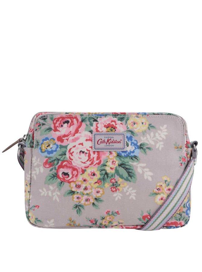 Šedá crossbody taška s květy Cath Kidston
