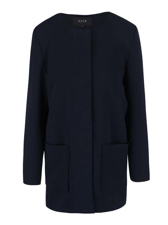 Tmavomodrý kabát VILA Cory