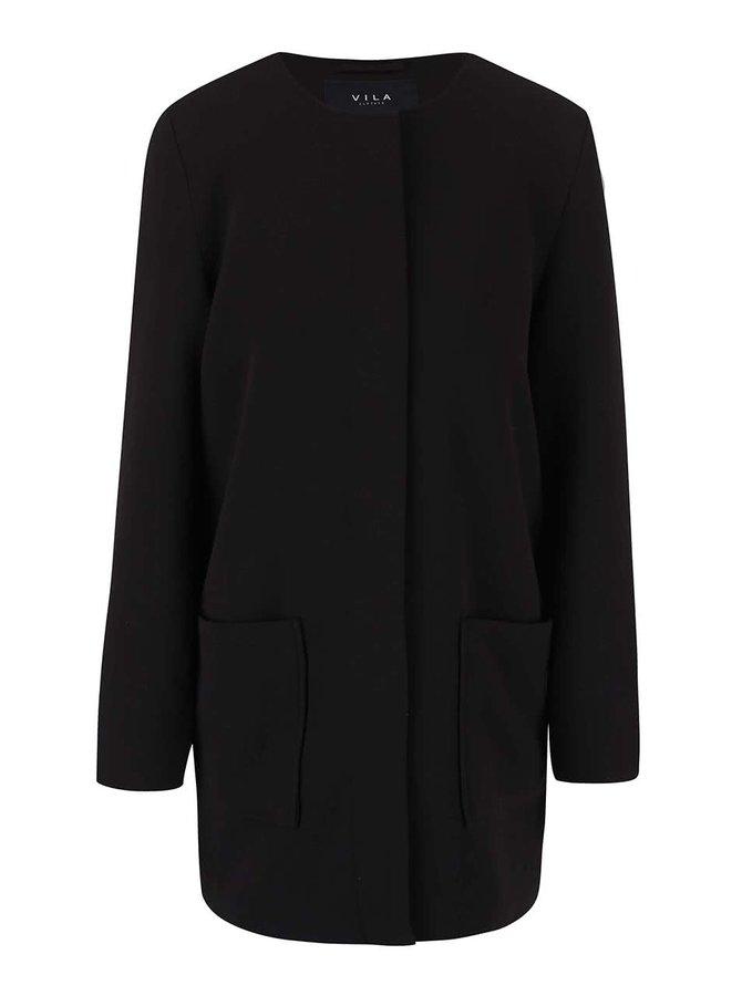 Čierny kabát VILA Cory
