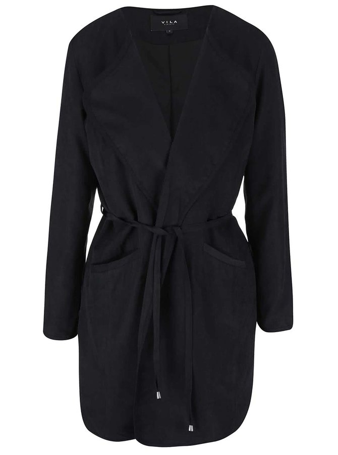 Černý kabát VILA Emmely
