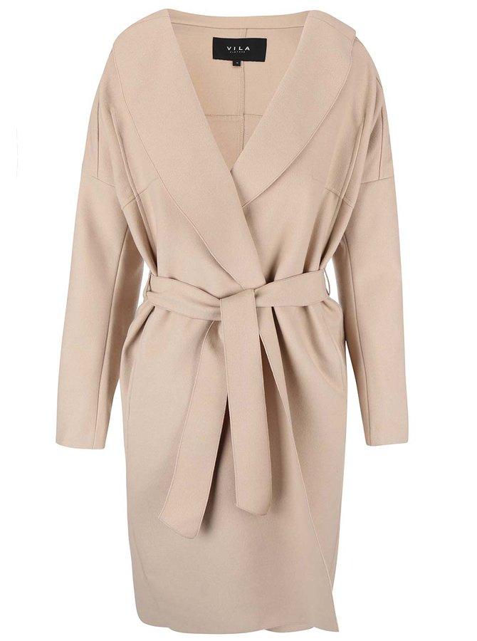Béžový kabát VILA Resin