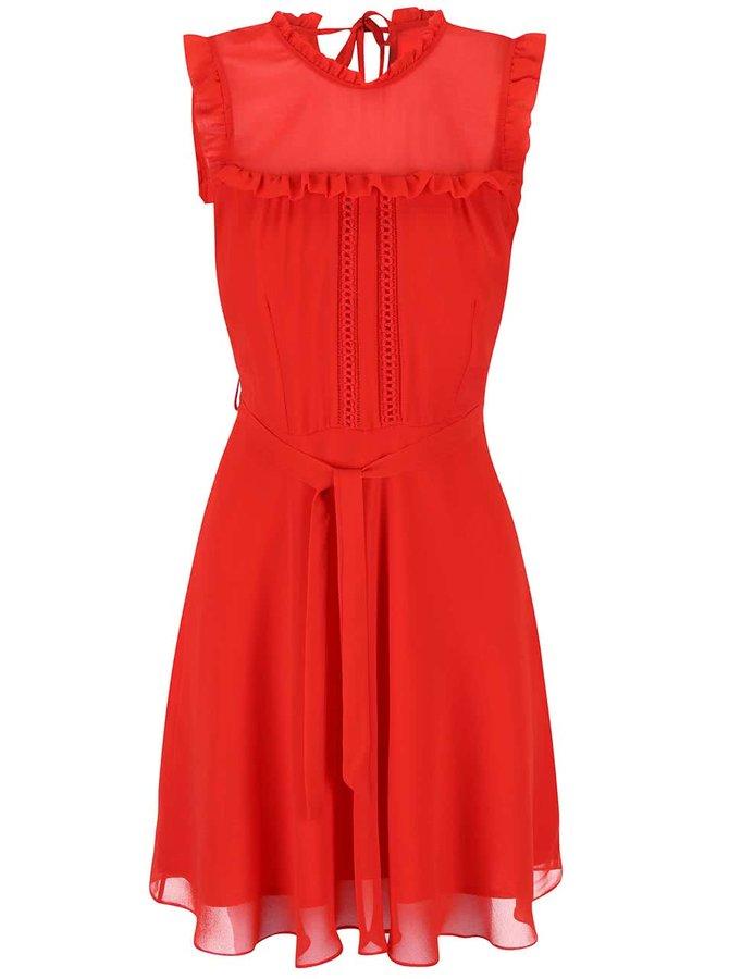 Červené šifónové šaty Dorothy Perkins