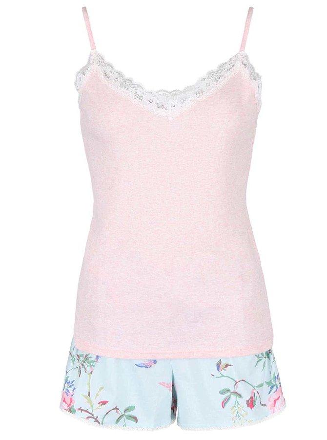 Pijamale cu flori albastru și crem CATH KIDSTON