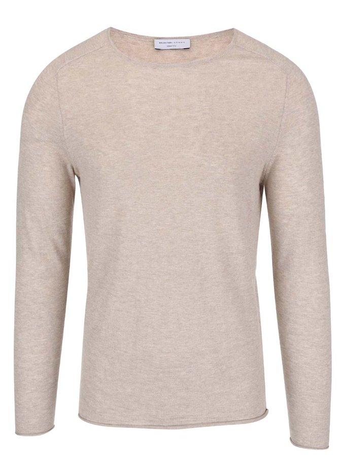 Sivo-hnedý sveter Selected Enton