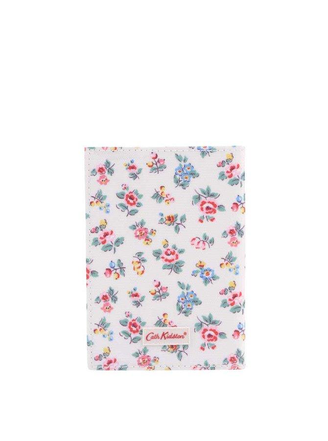 Bílé květované pouzdro na doklady Cath Kidston