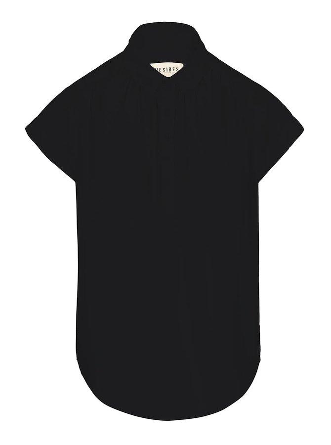 Černá košile s krátkým rukávem Desires Tarik