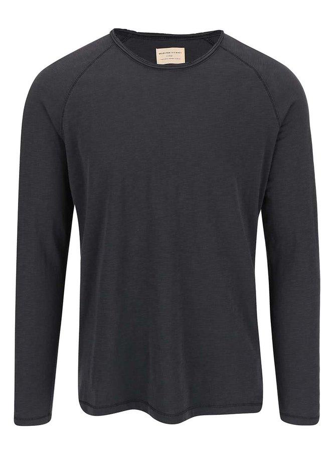 Tmavě šedé triko s dlouhým rukávem Selected Homme Tobi