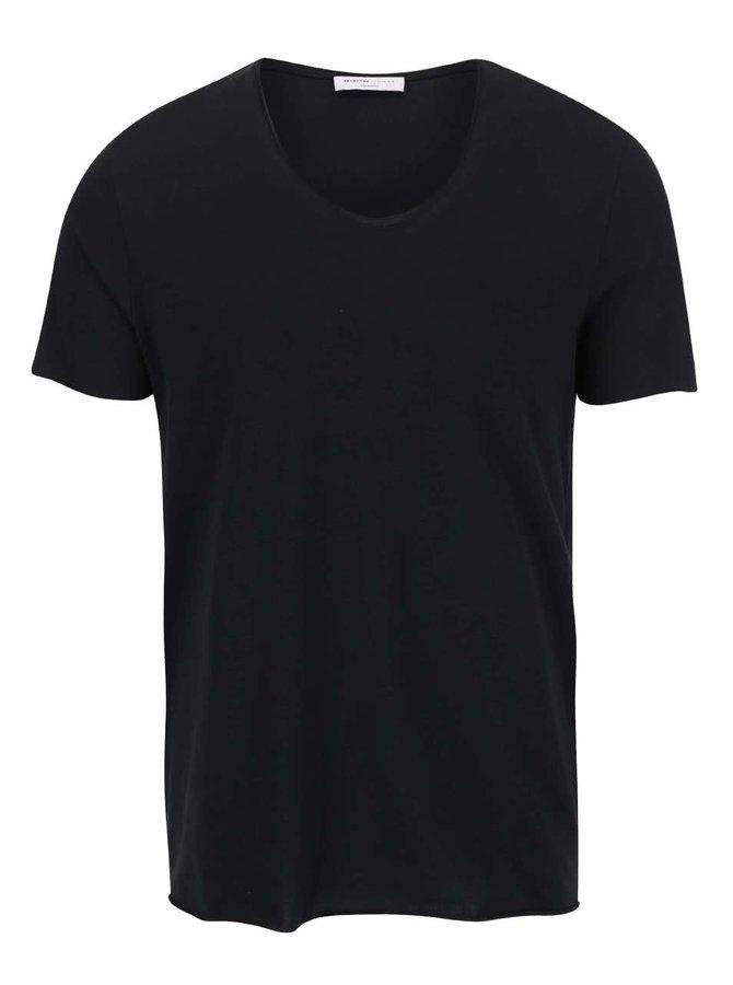 Černé triko Selected Homme Merce