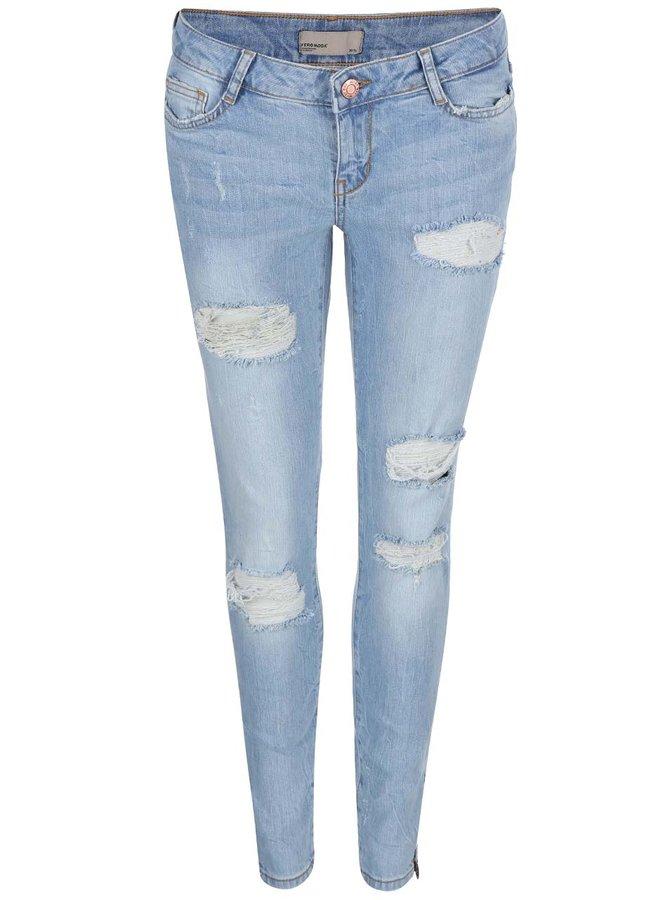 Světle modré super slim džíny Noisy May Eve
