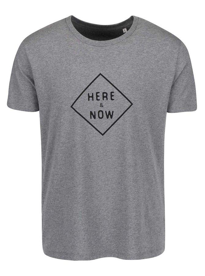 Sivé pánske tričko ZOOT Originál Here And Now