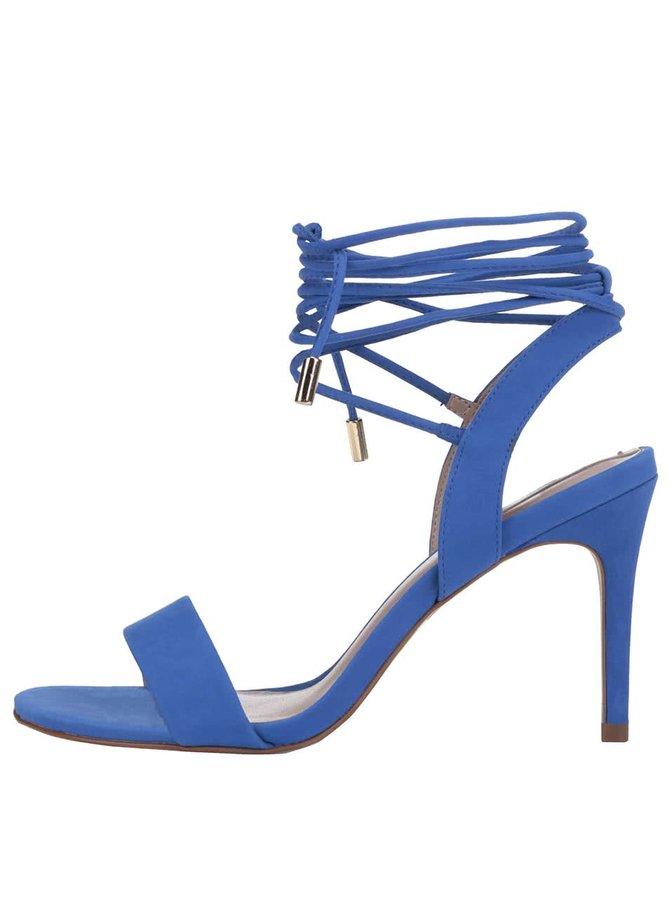Modré kožené šnurovacie sandálky ALDO Marilyn