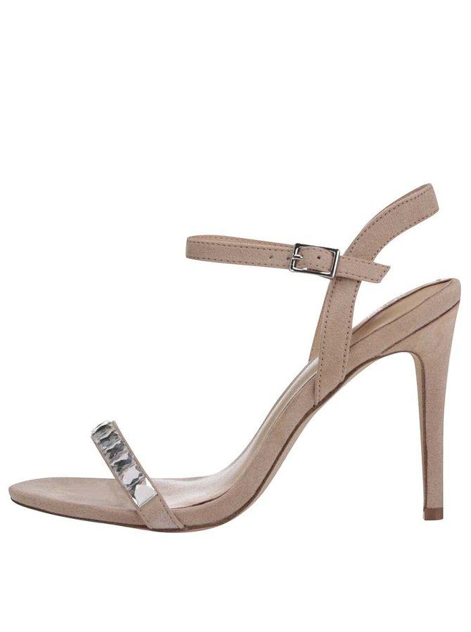 Hnedé zdobené sandálky ALDO Edilisien
