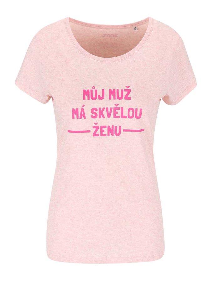Světle růžové dámské tričko ZOOT Originál Skvělá žena