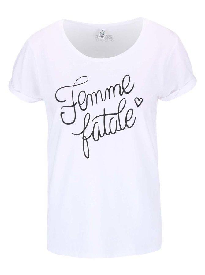 Biele dámske tričko ZOOT Originál Femme Fatale