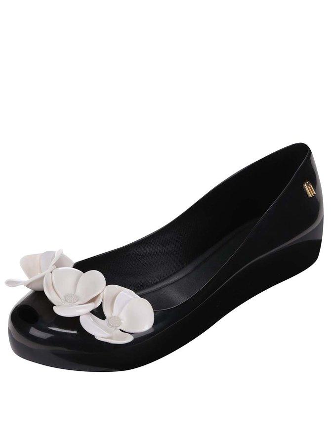 Balerini Melissa Ultragirl negri cu flori albe