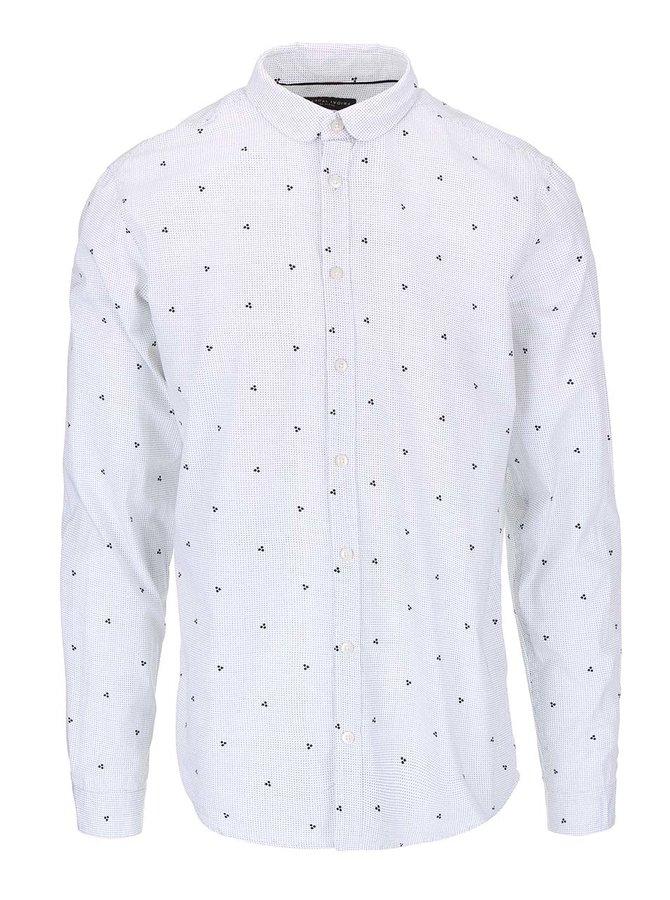 Biela košeľa s jemným vzorom Casual Friday by Blend