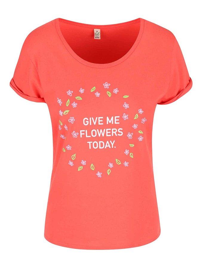 Tricou ZOOT Original Flowers coral pentru femei