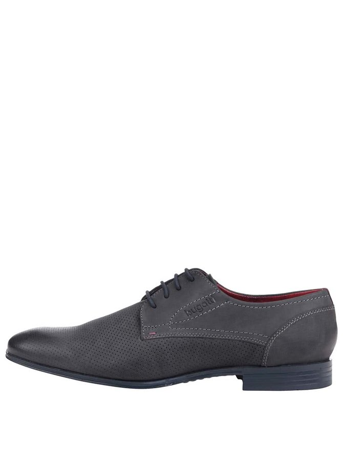 Pantofi bugatti bărbătești din piele gri-albastru