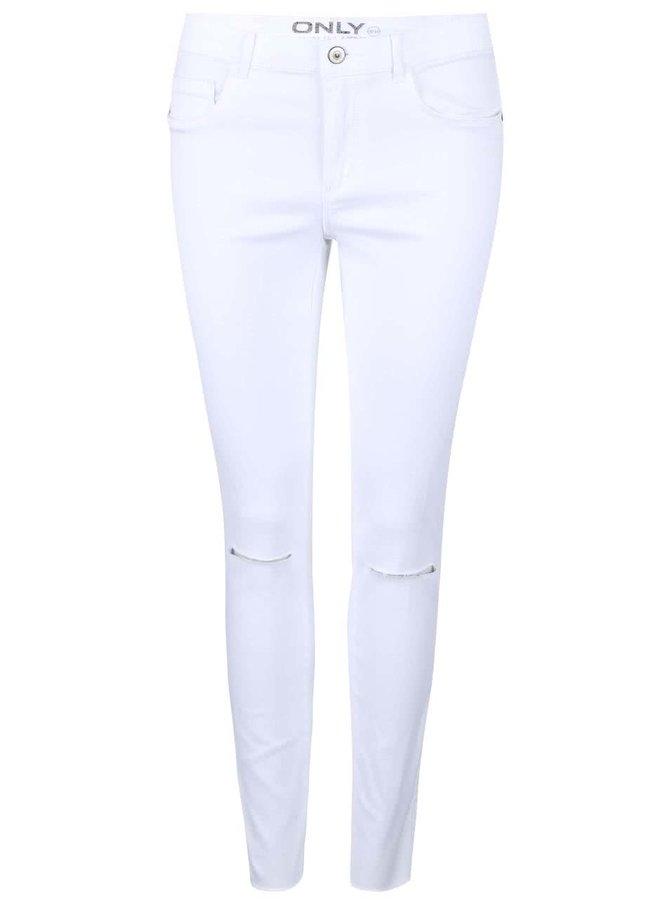 Bílé džíny s roztřepenými nohavicemi ONLY Royal