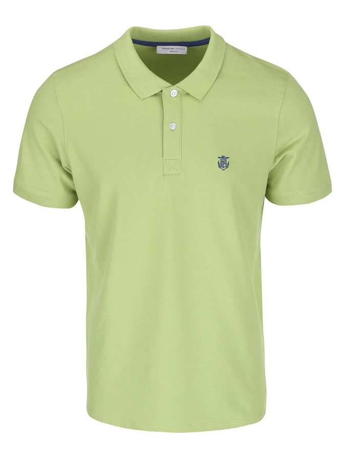 Tricou polo verde deschis Selected Homme Haro