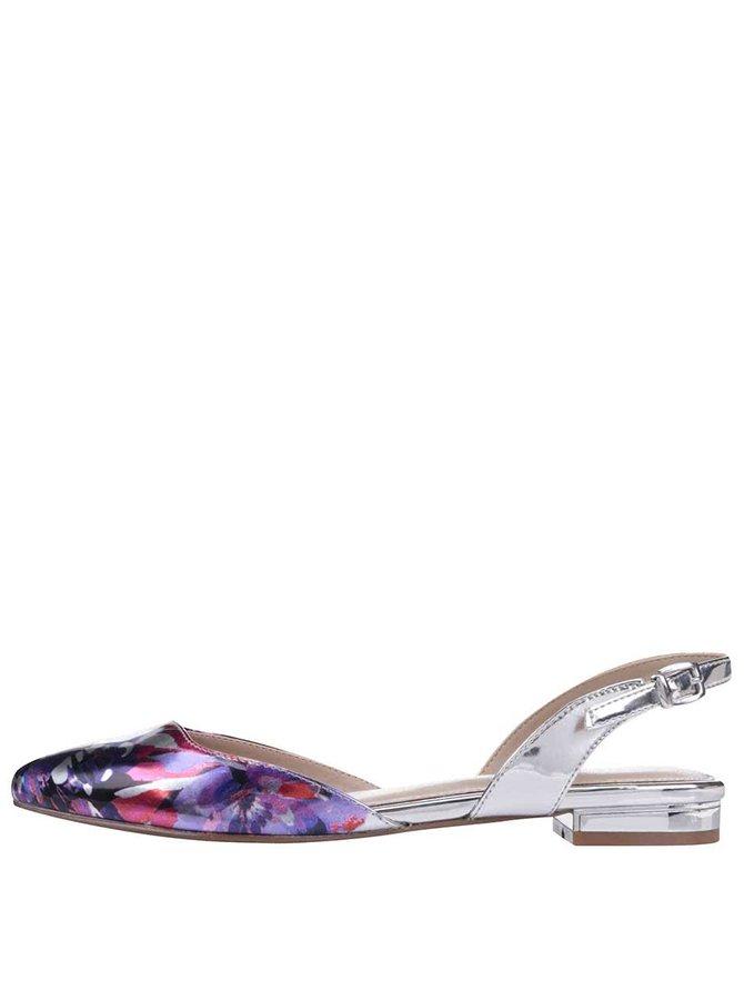 Kvetované sandálky v striebornej farbe ALDO Winiger