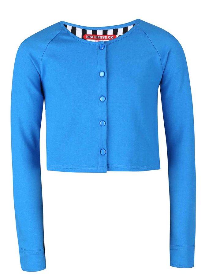 Modrý dievčenský gombíkový sveter LoveStation22 Robin