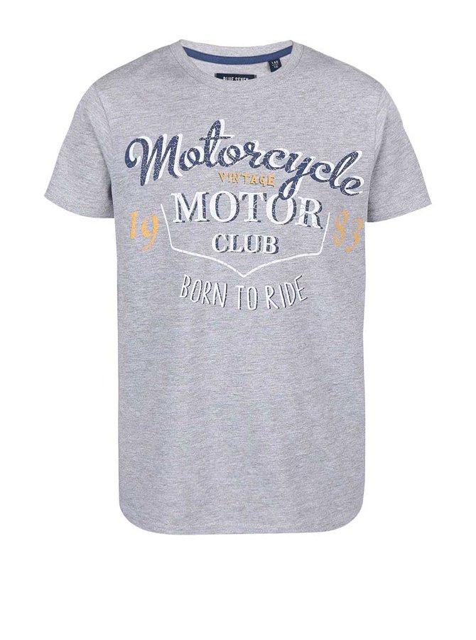 Sivé chlapčenské tričko s motorkárskym motívom Blue Seven