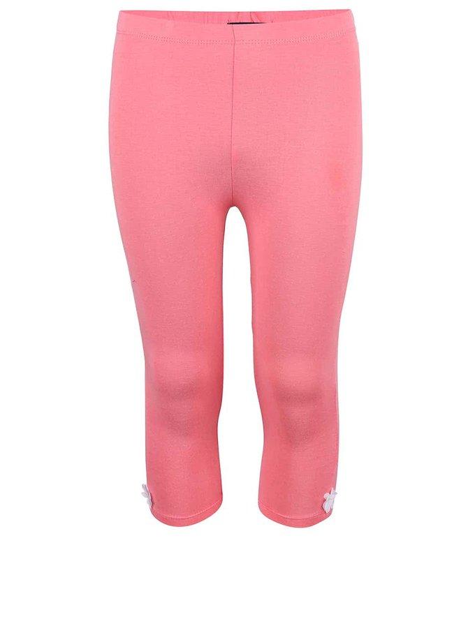 Pantaloni de trening Blue Seven pentru fete roz somon cu flori