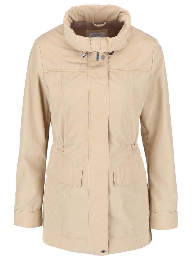 Béžový dámský stahovací kabát Geox