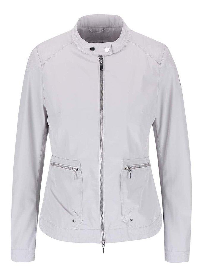 Jachetă de damă Geox impermeabilă - gri deschis